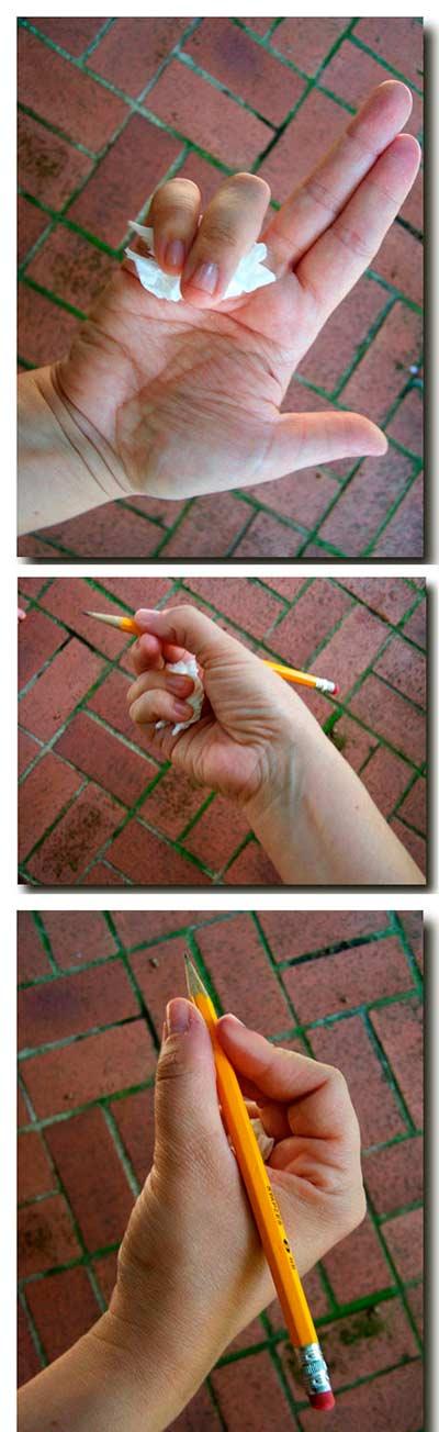 Truco para padres: sujetar lápiz