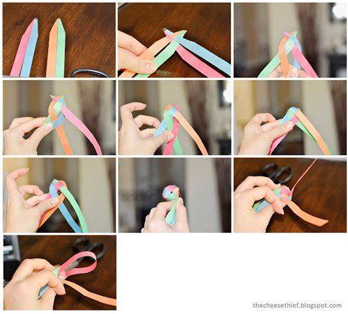 tutorial para hacer la guirnalda de bolita 3d origami