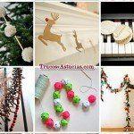 20 Guirnaldas de Navidad que puedes hacer para decorar