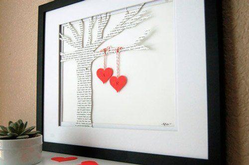 Manualidad para San Valentín, cuadro