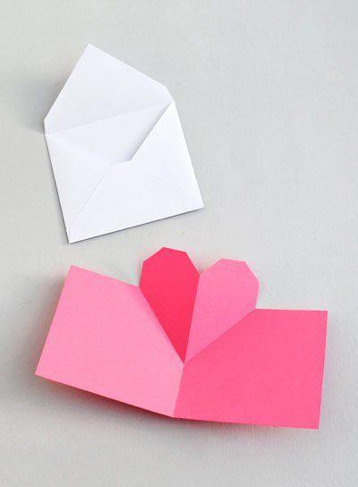 tarjeta de San Valentín original de origami 3d
