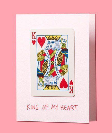 tarjeta de San Valentín original  con naipes