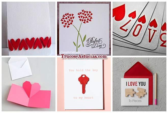 14 Tarjetas de San Valentín hechas con manualidades - Trucos y Astucias