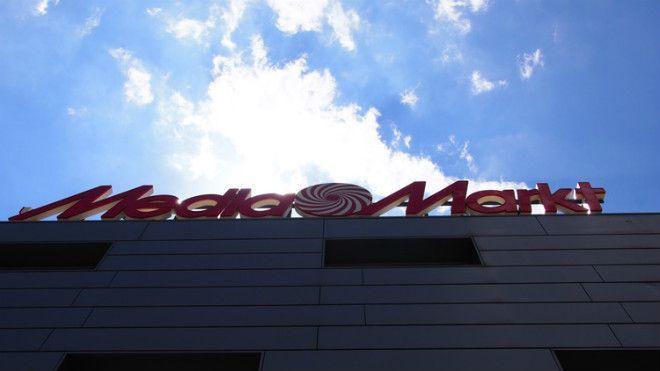 logo de media markt en las oficinas centrales