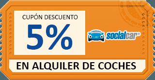 código descuento 5% al alquilar vehiculo de particular en social car