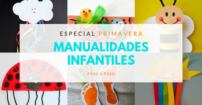 manualidades de primavera para niños pequeños, con tutoriales