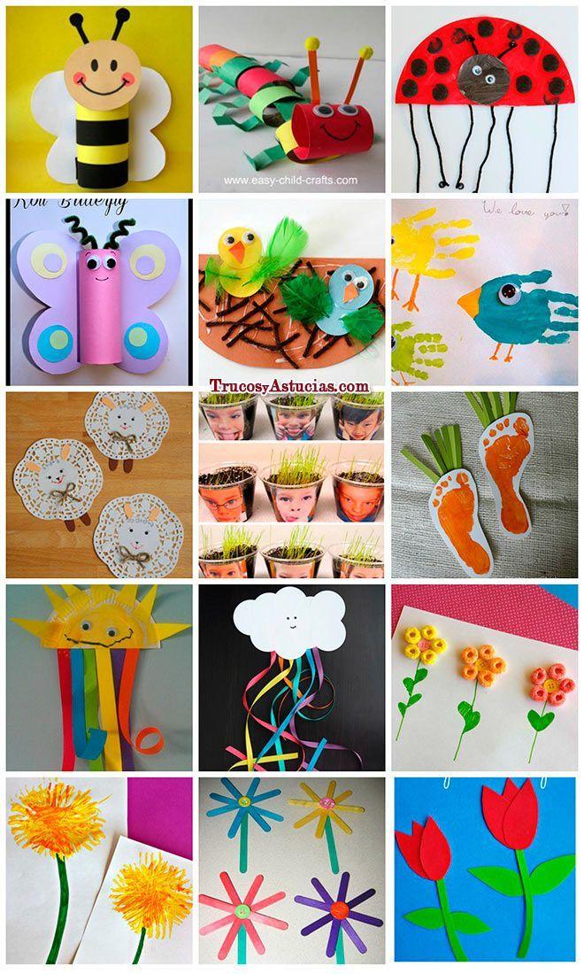 87 manualidades de primavera para ni os y adultos trucos for Decoracion del hogar en primavera