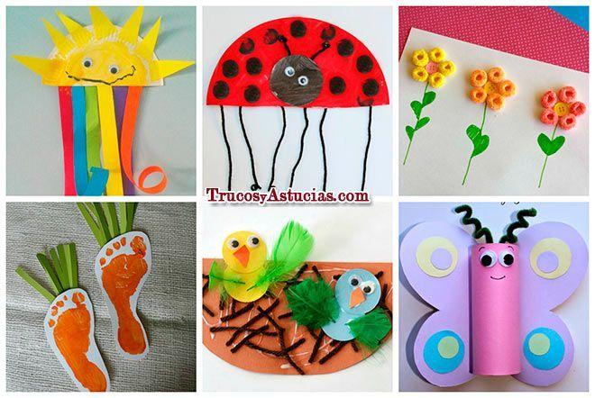 15 Manualidades de Primavera para niños. Con Instrucciones | Trucos ...