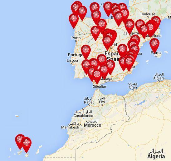 mapa con todas las tiendas de media markt en españa