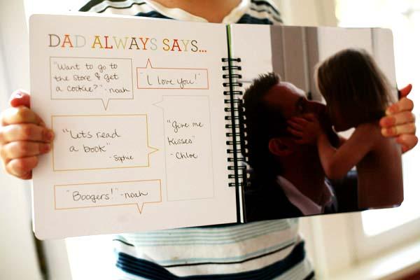 idea manualidad para regalar el día del padre con frases que él dice