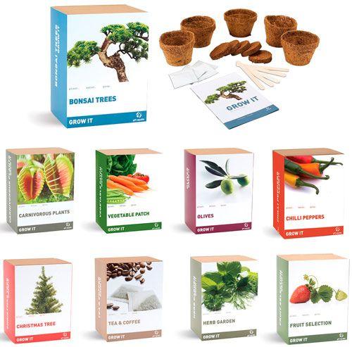 pack para plantar tu propio huerto, árbol, especias, etc