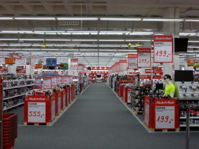 tienda de media markt sin gente