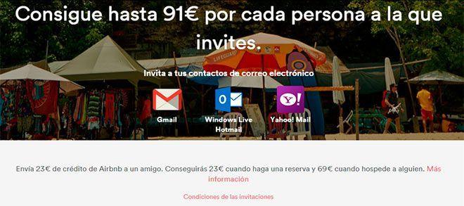 consigue hasta 91€ por persona que invites a airbnb