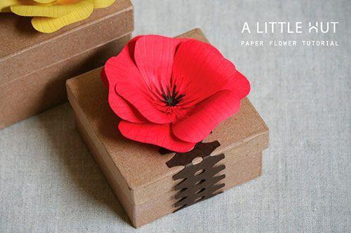 manualidad para hacer una amapola de papel