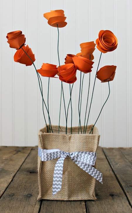 flores originales hechas de papel con instrucciones y tutorial
