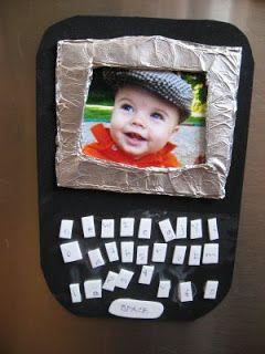manualidad para el dia de la madre simulando una blackberry