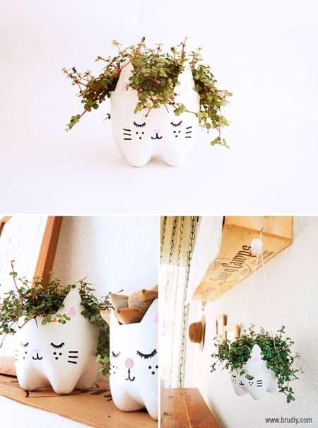 28 centros de mesa floreros y macetas para hacer con for Puertas recicladas para decorar