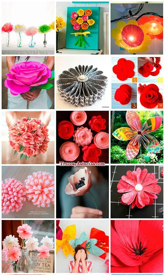 manualidades de flores para regalar en el día de la madre