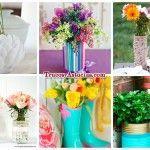 28 Centros de mesa, floreros y macetas para hacer con manualidades