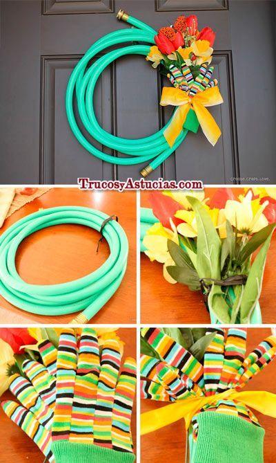 tutorial para hacer una corona de flores para la puerta