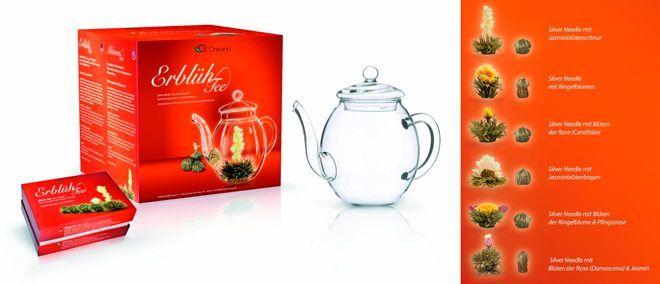 pack de tetera con flores de té para regalar en el día de la madre