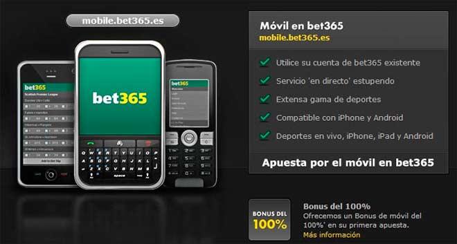 aplicación para móvil de la web de apuestas bet365