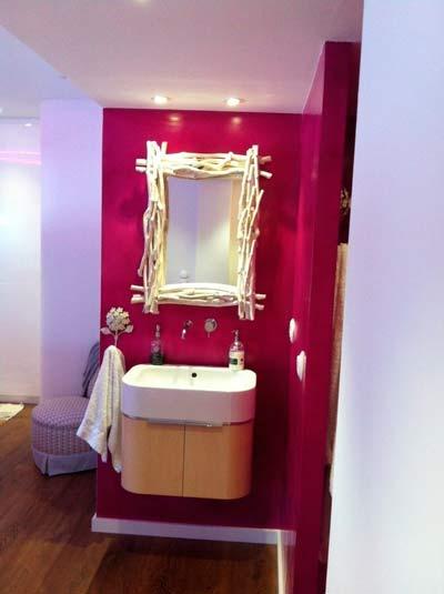 idea para decorar el baño de forma original con un espejo casero