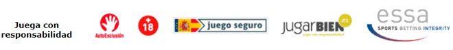 logotipos identificativos de la seguridad y legalidad en España de los operadores de apuestas deportivas