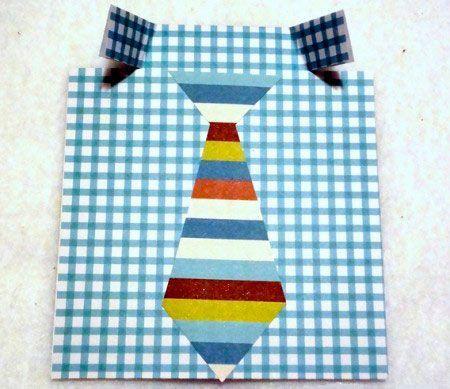 instrucciones manualidad tarjeta día del padre original con corbata (paso 2)