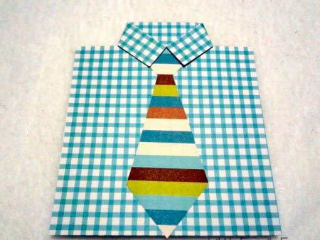 instrucciones manualidad tarjeta día del padre original con corbata (paso 3)