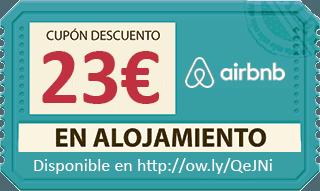 cupón descuento de 23 en airbnb