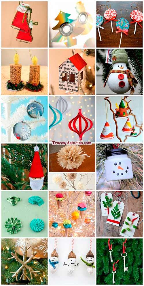 M s de 300 manualidades y adornos para navidad trucos y - Adornos navidenos hechos en casa ...