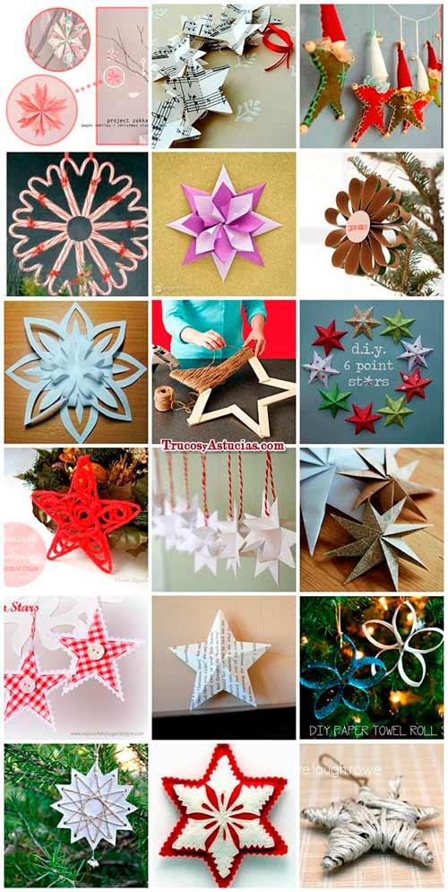 manualidades de estrellas de navidad