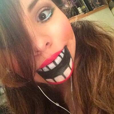 disfraz casero de halloween especial maquillaje