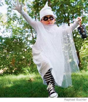 disfraz casero de halloween para niños fantasma