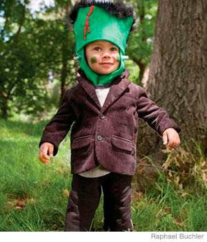 disfraz casero de halloween para nios de frankenstein