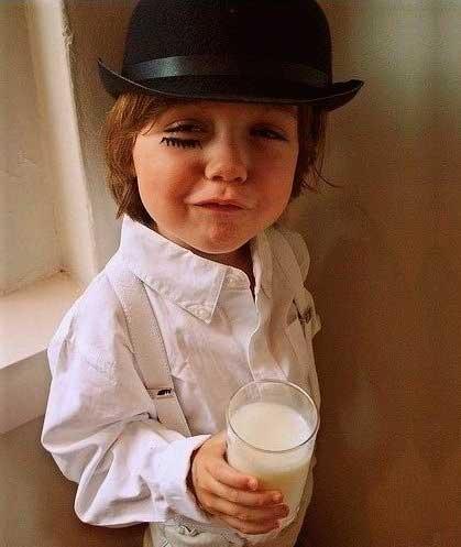 disfraz casero de halloween para niños: la naranja mecanica