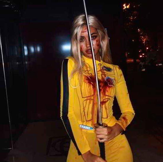 Disfraz casero de kill bill para halloween