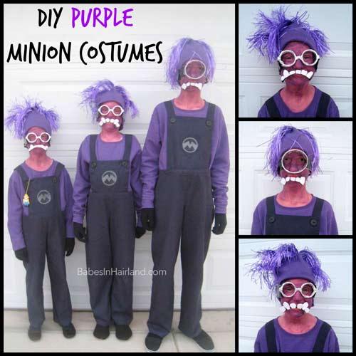 disfraces caseros para niño de minion lila