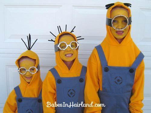 varios disfraces para niño de minion, fáciles de hacer