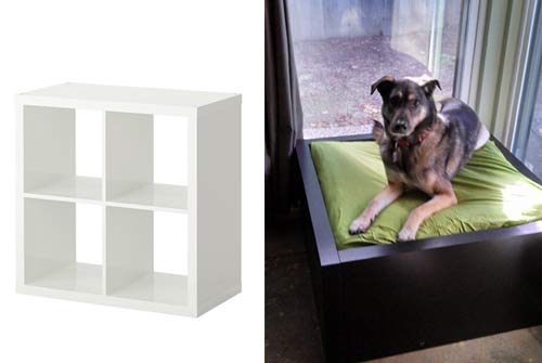 cómo hacer una cama para perro con un mueble kallax de ikea