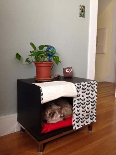 cómo hacer una cama para mascota dentro de un mueble