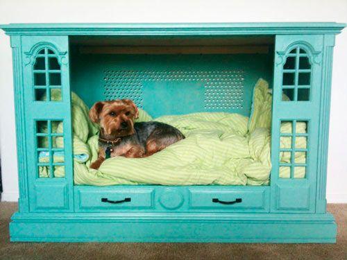 cómo hacer una cama para perro con un armario de salón