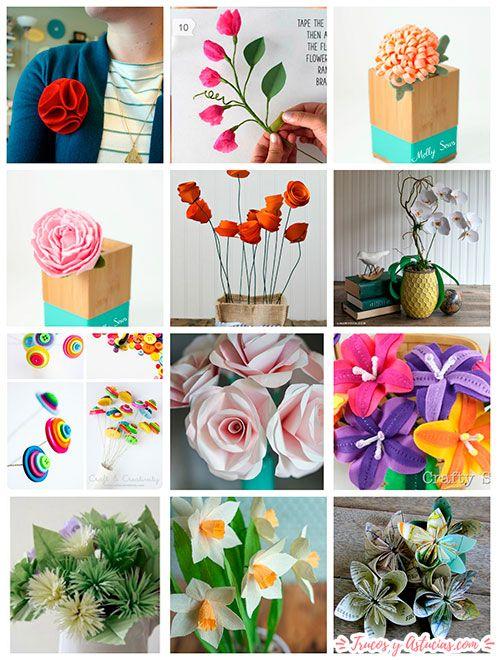 flores de tela y de papel para regalar el día de la madre
