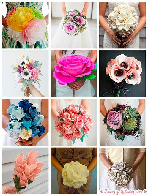 ideas de ramos de flores con manualidades para regalar a mamá