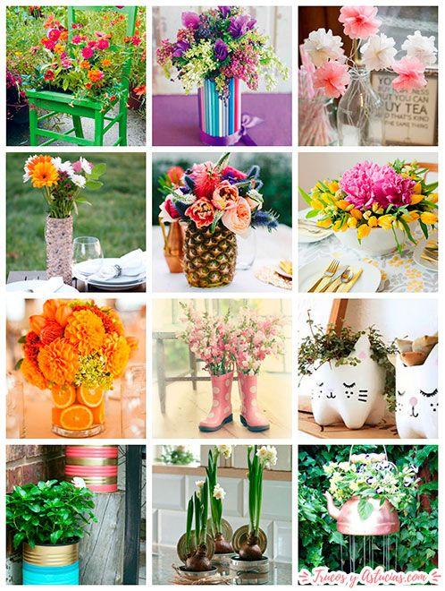 ideas de manualidades florales para regalar al día de la madre