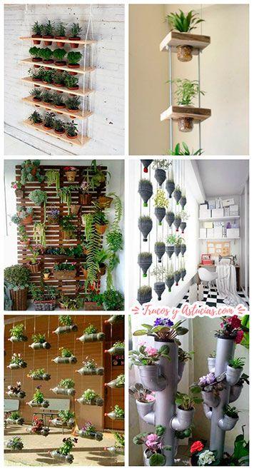 jardines verticales caseros, idea de manualidad para regalar a una madre