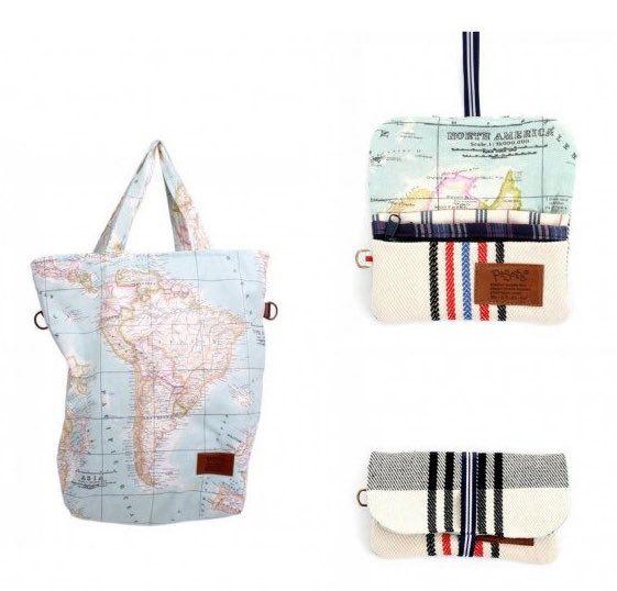 bolsa que se convierte en monedero y mochila