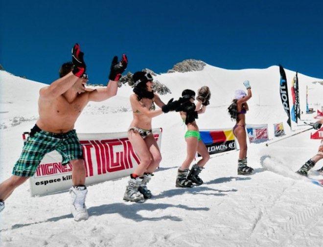 esquiar en verano de forma barata
