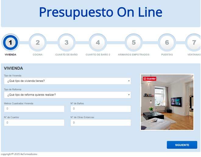 calculadora de reformas online gratuita